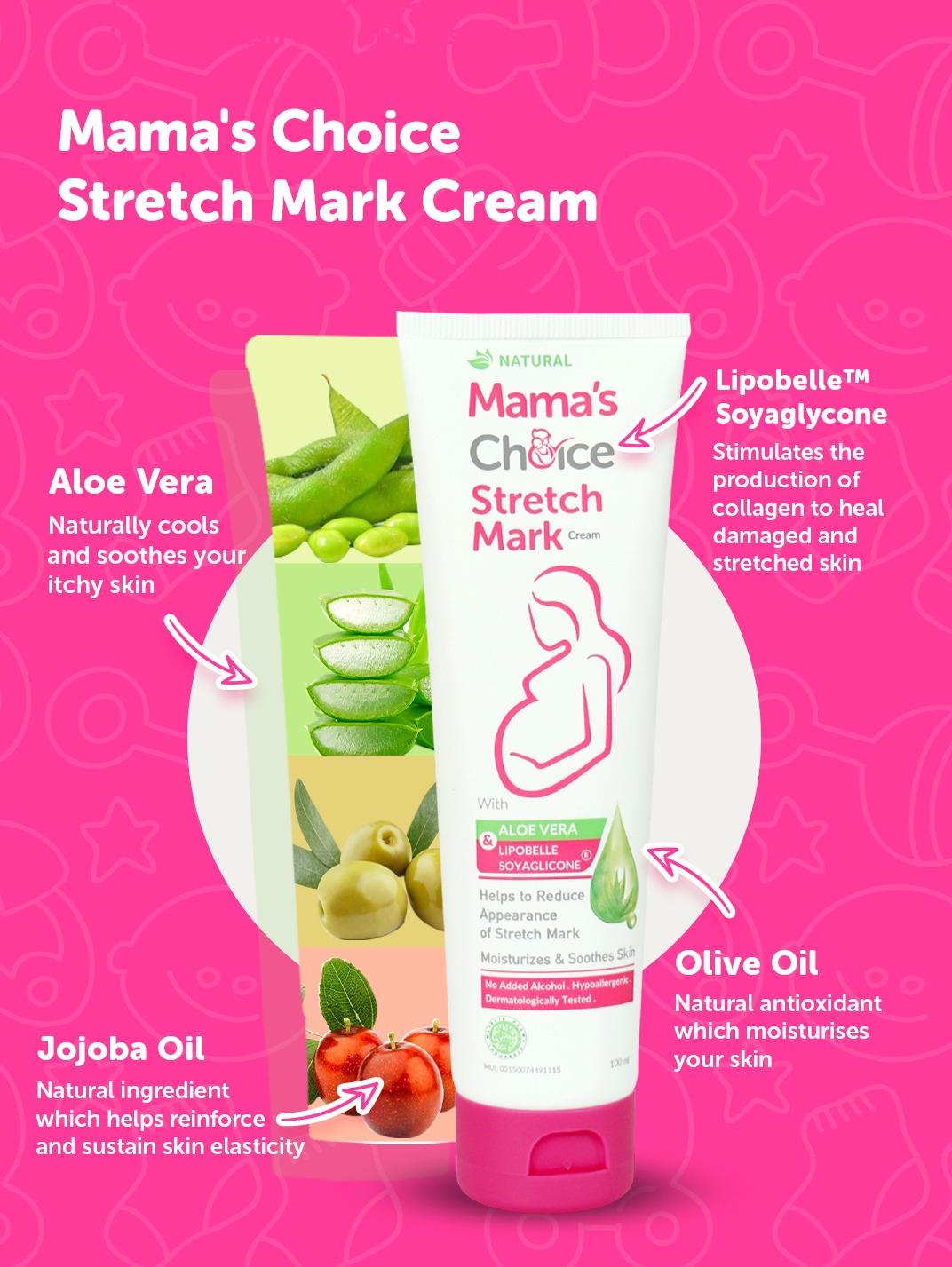Mama's Choice paraben-free Stretch Mark Cream ingredients