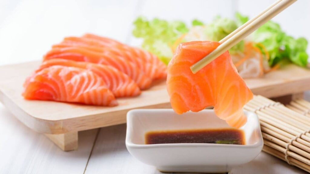 Avoid eating raw salmon during pregnancy