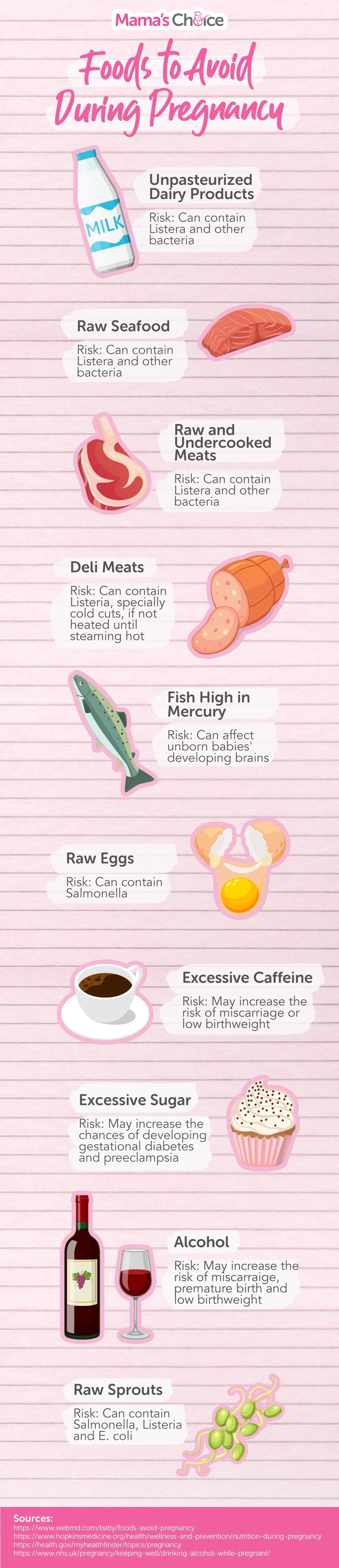 10 Foods To Avoid During Pregnancy