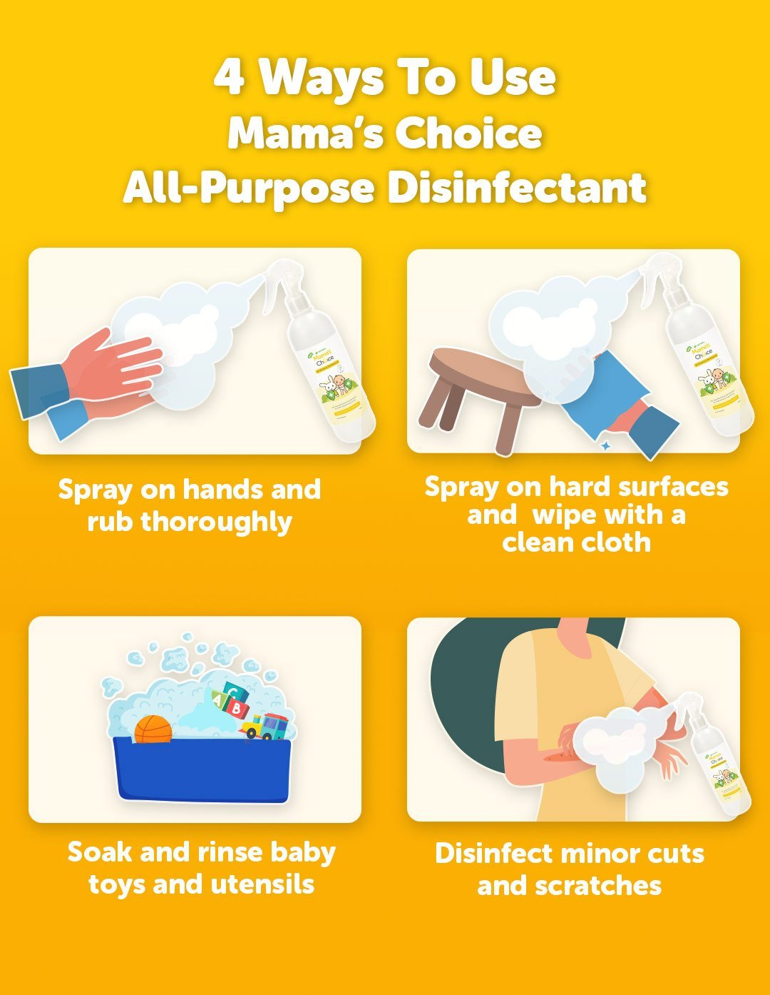 Ways to use Mama's Choice All-Purpose Disinfectant