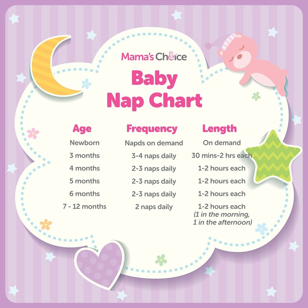 Baby nap chart guid