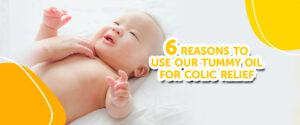 Use baby tummy oil for infant colic relief